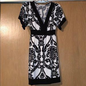 B&W Printed Dress